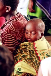 a sound nap in mother's chitenje
