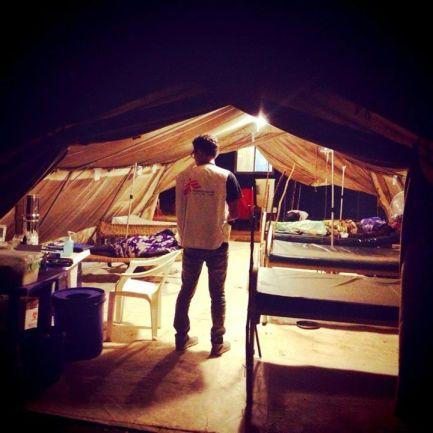 Me at the Hepatitis-E ICU Tent