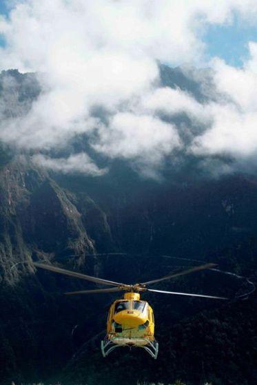 50 Helicopter Belt Puma prepare for landing, I felt somewhere like in avatar land!
