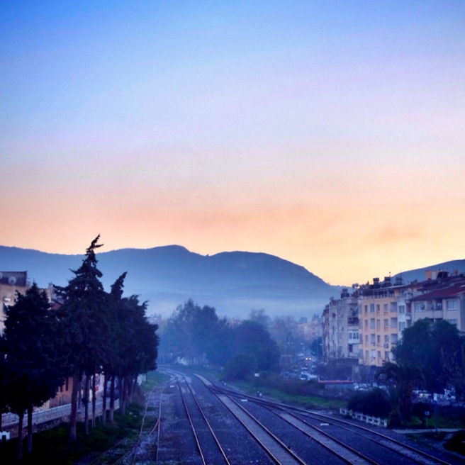 Selçuk view from the train bridge