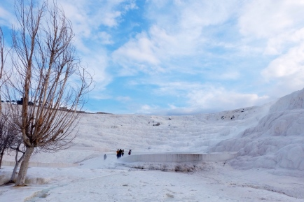 winter view of pamukkale