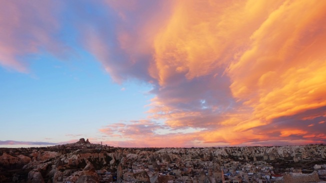 Sunset View of Cappadocia