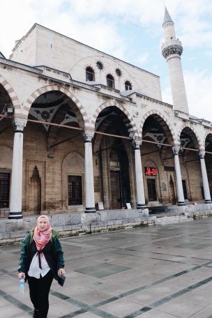 Mosque in front of Rumi's museum