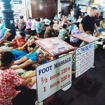 Thai massages are easy to find in Khaosan road, not the best but still good to try