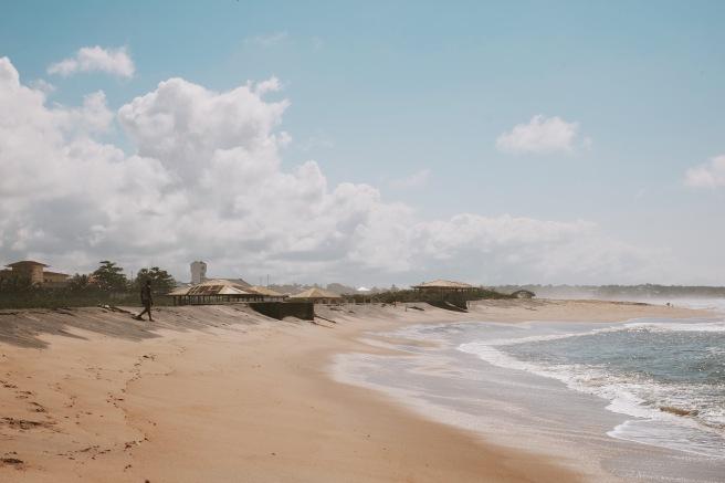 Pesisir pantai di Monrovia