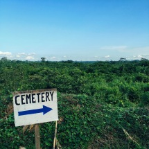 Cemetery for Ebola patient at Bong County